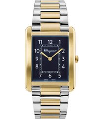 women's salvatore ferragamo portrait two-tone bracelet watch, 31mm x 41mm