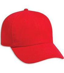 otto brushed bull denim six panel low profile baseball cap (color-red)