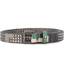 htc los angeles studded camouflage belt - green