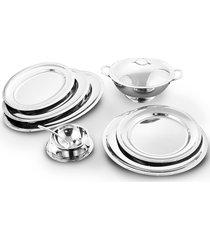 baixela croise prata - 8 peças - riva