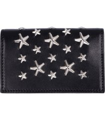 jimmy choo nello leather card holder