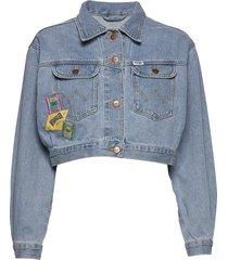 80´s cropped jacket jeansjack denimjack blauw wrangler