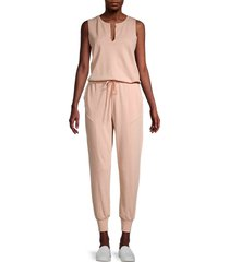 525 america women's seam detail jumpsuit - oatmeal - size s