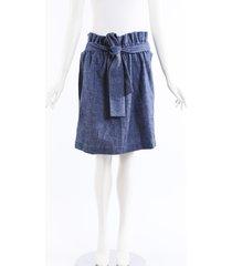 msgm chambray paper bag skirt blue sz: m