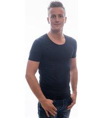 garage t-shirt deep round neck bodyfit navy ( art 0205)