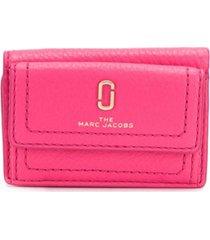 marc jacobs carteira snapshot mini - rosa