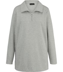 sweatshirt m. collection zilvergrijs