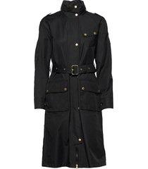 b.intl qualify jacket trench coat rock svart barbour