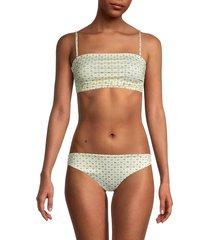 ganni women's sonata 2-piece bikini set - anise flower - size 38 (6)