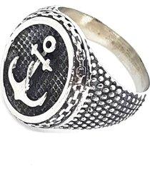 anel ancora aço inox empório top prata