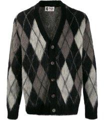 pringle of scotland argyle mohair cardigan - black