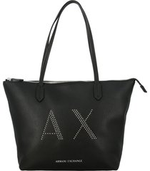 armani exchange tote bags armani exchange shopping bag in synthetic leather with studded logo