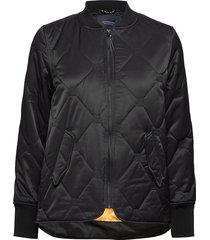 easy straight fit bomber with special quilting bomberjack zwart scotch & soda