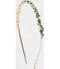 river island womens green jewelled metal headband