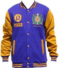 big boy headgear omega psi phi fraternity men's fleece jacket 4xl purple
