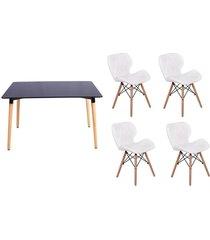 conjunto mesa de jantar impã©rio brazil eiffel - branco/incolor - dafiti