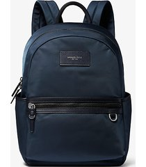 mk zaino brooklyn in gabardine di nylon - navy (blu) - michael kors