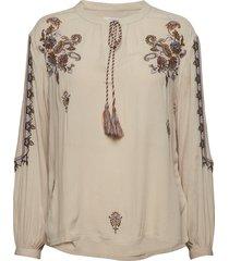 fenja blouse blouse lange mouwen beige cream