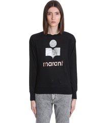 isabel marant étoile klowia t-shirt in black linen