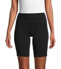 dkny women's city graffiti logo bike shorts - black - size m