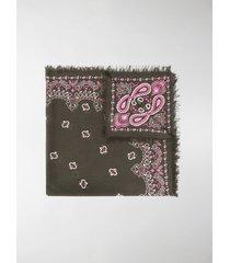 destin paisley-print frayed scarf