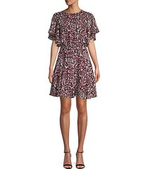 printed fit-&-flare dress