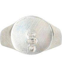 serge denimes silver minimal hallmark ring | silver | s-min-rng-u