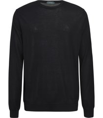 zanone classic ribbed sweatshirt