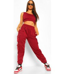 crop top & cargo pant jogger set