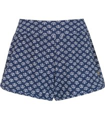 track & field conchas shorts - blue
