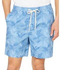 "nautica men's classic-fit floral print 7"" boardwalk shorts"