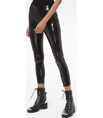 mk leggings con paillette - nero (nero) - michael kors