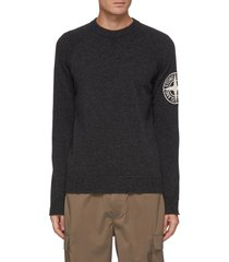 'geelong' anagram embroidered sleeve wool sweater