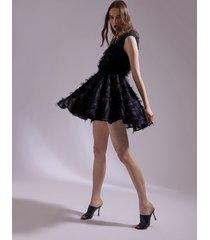 motivi abito in fil coupé donna nero