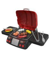 brincadeira de casinha - mini chef - churrasqueira com acessórios - xalingo xal11509