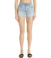 alexander wang bite high waist denim shorts, size 31 in bleach at nordstrom