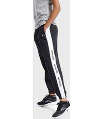 pantalón de buzo reebok te linear logo fl pant negro - calce regular
