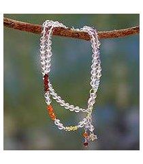 multi gemstone chakra necklace, 'inner serenity' (india)