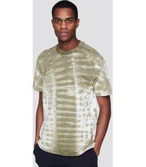 t-shirt med batikmönster - mörkgrön
