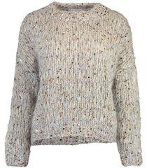 sparkle tweed pullover top