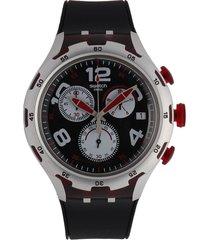 reloj negro-vinotinto watch