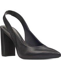 zapato cuero arerick negro mujer nine west