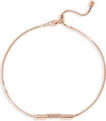 gucci link to love 18k rose gold bracelet at nordstrom