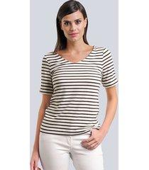 t-shirt alba moda svart::offwhite