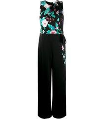 dvf diane von furstenberg wide-leg sleeveless tie-waist jumpsuit -