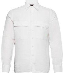 haidar reg shirt wash skjorta casual vit oscar jacobson