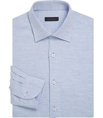 collection classic-fit textured cotton dobby dress shirt