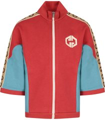 gucci red and light blue girl sweatshirt with double gg