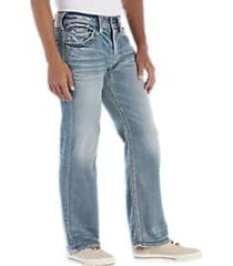 silver jeans co. zac light wash jeans