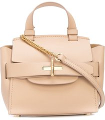 zac zac posen brigette belted mini crossbody - neutrals